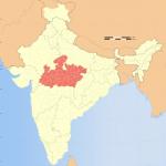 インド中央部地図